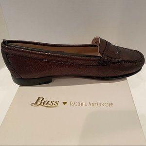 Bass Rachel Antonoff Metallic Black Loafers